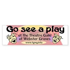 Go see a play bumper sticker (10 pk)