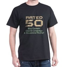 Funny 50th Gifts, Rated 50 T-Shirt