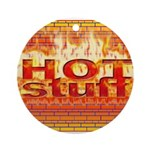 Hot Stuff Ornament (Round)