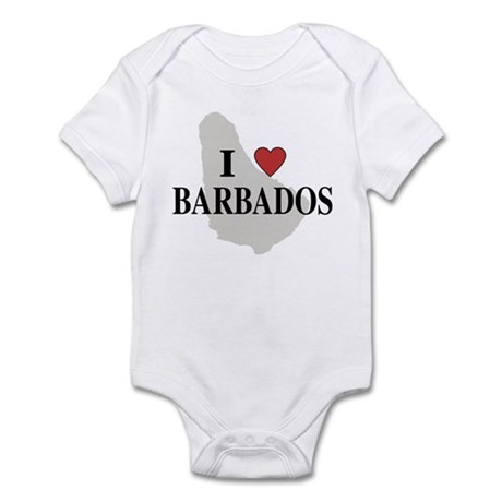 I Love Barbados Infant Bodysuit