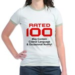 100th Birthday Jr. Ringer T-Shirt
