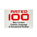 100th Birthday Rectangle Magnet (10 pack)