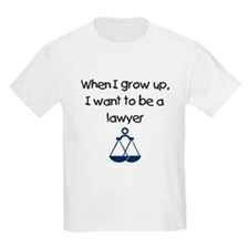 When I Grow Up I Want To Be A Lawyer T-Shirt