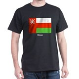 Oman Flag (Front) Black T-Shirt