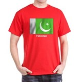 Pakistan Flag (Front) Black T-Shirt