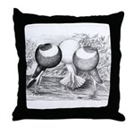Norwich Cropper Pigeons Throw Pillow