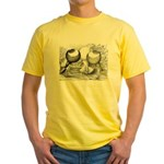Norwich Cropper Pigeons Yellow T-Shirt