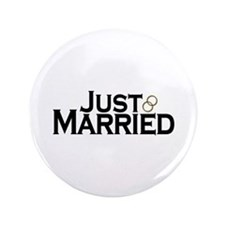 "Just Married 3.5"" Button"