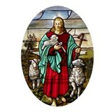 Good Shepherd Oval Ornament