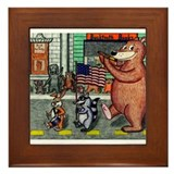 4th of July Parade Framed Tile