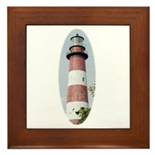 Assateague Lighthouse Framed Tile