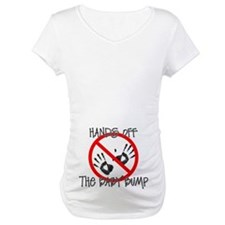 Hands off the baby bump Shirt (red)