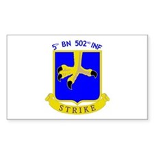 5/502 INF Rectangle Decal