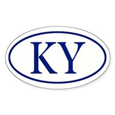 KY Oval sticker