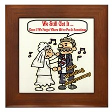 50th Wedding Anniversary Framed Tile