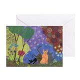 Unique Whimsical cats Greeting Card