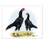Shamo Rooster and Hen Small Poster