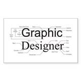 Graphic Designer Rectangle Decal