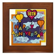 10th Wedding Anniversary Framed Tile