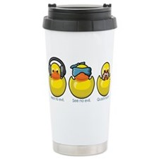 No Evil Ducks Ceramic Travel Mug