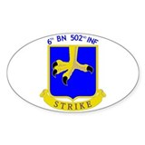 6/502 INF Oval Decal