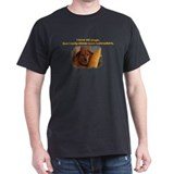 Custom Labrador Photo Black T-Shirt