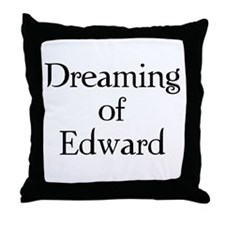 Dreaming of Edward Throw Pillow