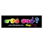 Got ASL? BK Rainbow ASLstamp Sticker (Bumper 10 pk