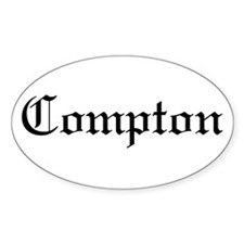 Compton Oval Decal