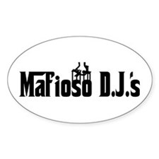 Mafiosodjs.com Oval Decal