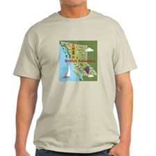 British Columbia Map T-Shirt