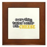 Tastes Better with Cheese Framed Tile