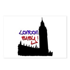 London Baby Friends white Postcards (Package of 8)