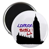 "London Baby Friends white 2.25"" Magnet (10 pa"