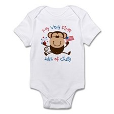 My 1st 4th Boy Monkey Infant Bodysuit
