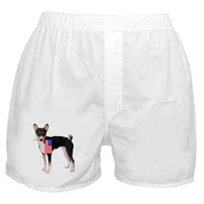 Basenji with flag Boxer Shorts