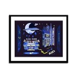 blues moon Framed Panel Print