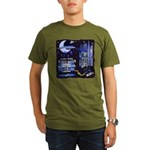 blues moon Organic Men's T-Shirt (dark)
