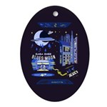 blues moon Ornament (Oval)