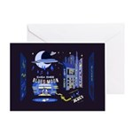 blues moon Greeting Card