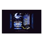 blues moon Sticker (Rectangle 10 pk)