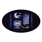 blues moon Sticker (Oval 10 pk)