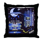 blues moon Throw Pillow