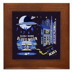 blues moon Framed Tile