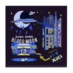 blues moon Tile Coaster