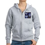 blues moon Women's Zip Hoodie