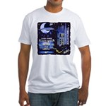 blues moon Fitted T-Shirt