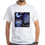 blues moon White T-Shirt