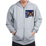 Corgi eyes Butterfly Zip Hoody