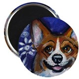 Corgi eyes Butterfly Magnet